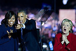 The same city her campaign started in, also provides the final stage for Dem. Presidential candidate Hillary Clinton as she is joined by her family and Michelle and Barrack Obama, on Nov. 7, 2016, on Independence Mall, in Philadelphia, PA.