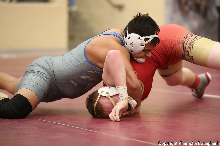 District wrestling, photographed at Saginaw High School Friday, February 7, 2020. (Photo by Khampha Bouaphanh)