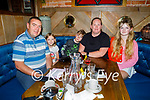 The Scully family from Newcastle West enjoying the evening in the Mall Tavern on Friday, l to r: Patrick, Ebony, Quade, Angela and Amber Scully.