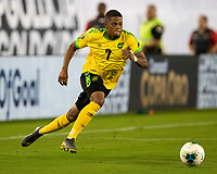 NASHVILLE, TN - JULY 4: Leon Bailey #7 during a game between Jamaica and USMNT at Nissan Stadium on July 4, 2019 in Nashville, Tennessee.