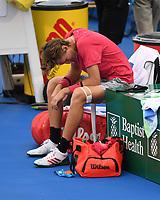 DELRAY BEACH, FLORIDA - JANUARY 13: Sebastian Korda reacts during his match with Hubert Hurkacz during the Finals of the Delray Beach Open at Delray Beach Tennis Center on January 13, 2021 in Delray Beach, Florida.. Credit: mpi04/MediaPunch