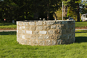 Thorvald's Rock is in a stone cage at Tuck Memorial Museum in Hampton, New Hampshire, which is part of New England. It is said this boulder marked the final resting place of Thorvald Ericsson, brother of the famous Viking explorer Leif Ericsson.