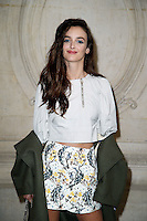 Paris, France September 27 : Charlotte Le Bon attends the Christian Dior Ready To Wear Spring/Summer 2017 show as part of Paris Fashion Week on September 27; 2016 in Paris, France. # FASHION WEEK - PEOPLE AU DEFILE DIOR.