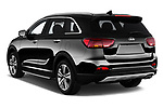 Car pictures of rear three quarter view of a 2018 KIA Sorento GT Line 5 Door SUV angular rear