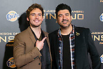 "British Actor SAM CLAFLIN and Tony Aguilar attends the ""The Hunger Games: Mockingjay - Part 1"" premiere at Callao Cinema in Madrid, Spain. November 11, 2014. (ALTERPHOTOS/Carlos Dafonte)"