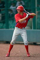 Kelly Dugan #16 of the GCL Phillies waits for his turn to hit at Disney's Wide World of Sports Complex, July 13, 2009, in Orlando, Florida.  (Photo by Brian Westerholt / Four Seam Images)
