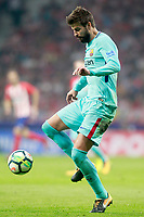 FC Barcelona's Gerard Pique during La Liga match. October 14,2017.  *** Local Caption *** © pixathlon<br /> Contact: +49-40-22 63 02 60 , info@pixathlon.de