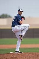 San Diego Padres relief pitcher Ben Sheckler (49) during a Minor League Spring Training game against the Seattle Mariners at Peoria Sports Complex on March 24, 2018 in Peoria, Arizona. (Zachary Lucy/Four Seam Images)
