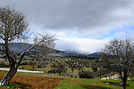 Mountain scenery outside Mugla during Stage 5 of the 2015 Presidential Tour of Turkey running 159.9km from Mugla to Pamukkale. 30th April 2015.<br /> Photo: Tour of Turkey/Steve Thomas/www.newsfile.ie