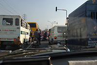 Typical street traffic in New Delhi, India