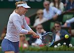 Maria Sharapova (RUS) defeats Vitalia Diatchenko (RUS) 6-3, 6-1 at  Roland Garros being played at Stade Roland Garros in Paris, France on May 27, 2015