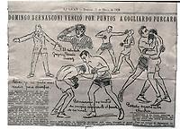 Domenico Bernasconi pugile, 1933, campione del modo per soli tre minuti