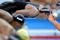 Michael Phelps of the United States dives in a men's 200 meters freestyle semifinal at the Swimming World Championships in Rome, 27 July 2009..UPDATE IMAGES PRESS/Riccardo De Luca