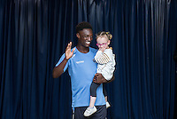 Anthony Stewart during the Wycombe Wanderers 2016/17 Kit launch to the Public at Adams Park, High Wycombe, England on 10 July 2016. Photo by Andy Rowland.
