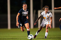 Sky Blue FC defender Caitlin Foord (4) and Western New York Flash midfielder Angela Salem (6). The Western New York Flash defeated Sky Blue FC 3-0 during a National Women's Soccer League (NWSL) match at Yurcak Field in Piscataway, NJ, on June 8, 2013.