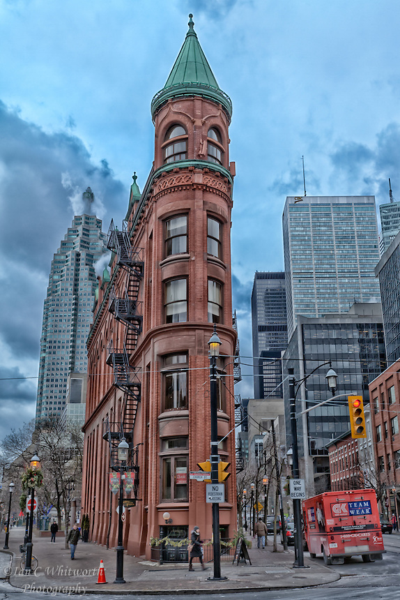 The Flatiron Building or Gooderham Building in downtown Toronto
