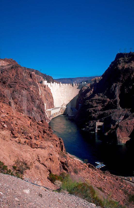 Hoover Dam on the Colorado River. Nevada.