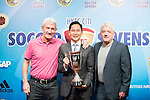 (L-R) Terry McDermott, former Liverpool football player, Wayne Fong, Head of Corporate Affairs of Citi, and Kevin Keegan, former English football player, attends the press conference for the HKFC Citi Soccer Sevens Hong Kong 2017 at the Hong Kong Football Club on 07 February 2017 in Hong Kong, China. Photo by Victor Fraile / Power Sport Images