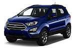 2018 Ford Ecosport Business Class 5 Door SUV angular front stock photos of front three quarter view