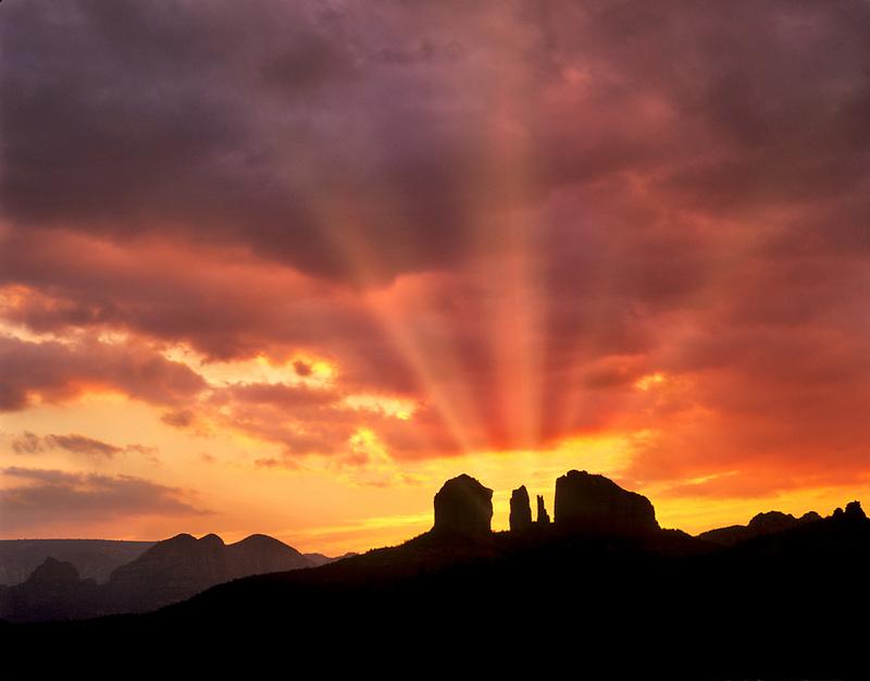 Cathedral Rock and sunrise. Arizona