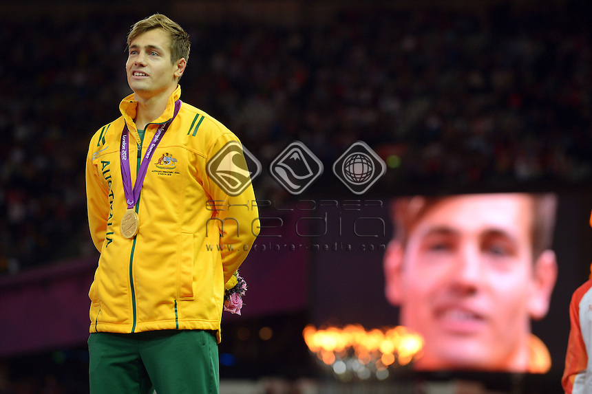 Gold medalist in the 100m Evan O'Hanlon <br /> Athletics : 800m (Saturday 1 Sept )<br /> Paralympics - Summer / London 2012<br /> London England 29 Aug - 9 Sept <br /> © Sport the library / Jeff Crow