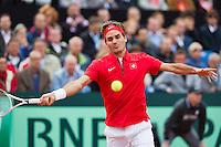 14-09-12, Netherlands, Amsterdam, Tennis, Daviscup Netherlands-Swiss,    Roger Federer