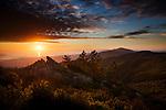 sunset, La Cumbre Peak, Santa Ynex Mountains, Santa Barbara California