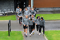 (L-R) Mike van der Hoorn, Luciano Narsingh, Courtney Baker-Richardson, Yan Dhanda and Jefferson Montero of Swansea City lead the team out for the Swansea City Training Session at The Fairwood Training Ground, Wales, UK. Tuesday 11th September 2018