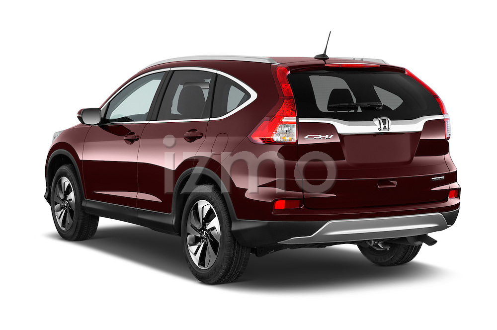 Car pictures of rear three quarter view of a 2015 Honda Cr-V Touring 5 Door Suv 2WD Angular Rear