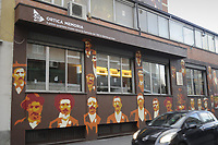 - Milano, quartiere Ortica, dipinto murale storico<br /> <br /> - Milan, Ortica district, historical wall painting