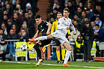 Cristiano Ronaldo (R) of Real Madrid battles for the ball with Yuri Berchiche of Paris Saint Germain during the UEFA Champions League 2017-18 Round of 16 (1st leg) match between Real Madrid vs Paris Saint Germain at Estadio Santiago Bernabeu on February 14 2018 in Madrid, Spain. Photo by Diego Souto / Power Sport Images