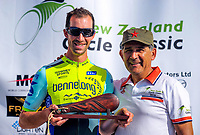 Joe Cooper and Jorge Sandoval. The opening ceremony of the NZ Cycle Classic UCI Oceania Tour at Mitre 10 Mega in Masterton, New Zealand on Tuesday, 16 January 2018. Photo: Dave Lintott / lintottphoto.co.nz