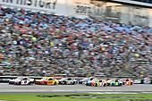 #11: Denny Hamlin, Joe Gibbs Racing, Toyota Camry FedEx Office and #22: Joey Logano, Team Penske, Ford Mustang Shell Pennzoil