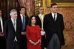 Fernando Grande-Marlaska, Margarita Robles and Pedro Sanchez attends to Pascua Militar at Royal Palace in Madrid, Spain. January 06, 2019. (ALTERPHOTOS/Pool)