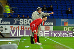 International Friendly match between Wales and Scotland at the new Cardiff City Stadium : Wales Manager John Toshack gives instructions to Andy King.