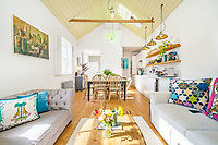 BNPS.co.uk (01202) 558833. <br /> Pic: Riverhomes/BNPS<br /> <br /> A former lock keeper's cottage on a picturesque canal is on the market for £1.2m.<br /> <br /> The Grade II listed Georgian home is on the tow path in a scenic spot backing onto a park and has been beautifully converted inside.<br /> <br /> Many of these kind of workers' cottages were torn down when canals stopped being used for commercial purposes, and of those that weren't often many were too small to be used as homes and the bigger ones were converted into pubs.<br /> <br /> This 19th century two-bedroom property is on Regent's Canal in Bethnal Green, East London, and is on the market with Riverhomes.