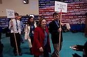 Manchester, New Hampshire<br /> January 5, 2008<br /> <br /> The spin room after the debates with first the Republicans and then the Democrats at Aselm College.<br /> <br /> Elizabeth Edwards comes on to the spin room floor to address journalists.