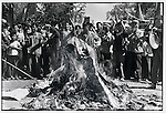 Red Guards ransack the Buddhist Jile Temple, burning sculptures and holy scriptures. Harbin, 24 August 1966