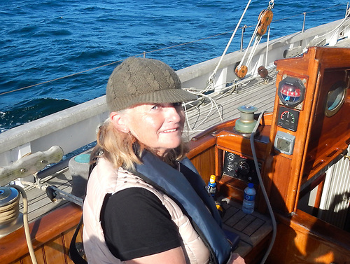 Maire Breathnach aboard Annabel J off the Kerry coast