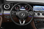 Car pictures of steering wheel view of a 2018 Mercedes Benz E Class Business Solution 4 Door Sedan