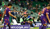 18th April 2021; HBF Park, Perth, Western Australia, Australia; A League Football, Perth Glory versus Wellington Phoenix; Diego Castro of the Perth Glory watches his team mates take the field for the start of the match
