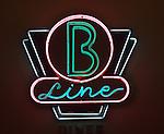 Neon Light, B Line Diner, Peabody Hotel, Orlando, Florida