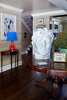 bust on a side table