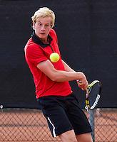 08-08-13, Netherlands, Rotterdam,  TV Victoria, Tennis, NJK 2013, National Junior Tennis Championships 2013, Botic van de Zandschulp    <br /> <br /> <br /> Photo: Henk Koster