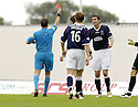 11/08/2007       Copyright Pic: James Stewart.File Name : sct_jspa20_falkirk_v_celtic.FALKIRK'S DARREN BARR PULLS BACK JAN VENEGOOR OF HESSELINK AS HE HEADS TOWARDS GOAL.... REFEREE DOUGIE MCDONALD SENT OFF KENNY  MILNE FOR BEING THE LAST MAN...James Stewart Photo Agency 19 Carronlea Drive, Falkirk. FK2 8DN      Vat Reg No. 607 6932 25.Office     : +44 (0)1324 570906     .Mobile   : +44 (0)7721 416997.Fax         : +44 (0)1324 570906.E-mail  :  jim@jspa.co.uk.If you require further information then contact Jim Stewart on any of the numbers above........