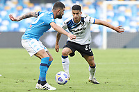 Elseid Hysaj of SSC Napoli and Fabio Depaoli of Atalanta BC compete for the ball<br /> during the Serie A football match between SSC Napoli and Atalanta BC at stadio San Paolo in Napoli (Italy), October 17th, 2020. <br /> Photo Cesare Purini / Insidefoto