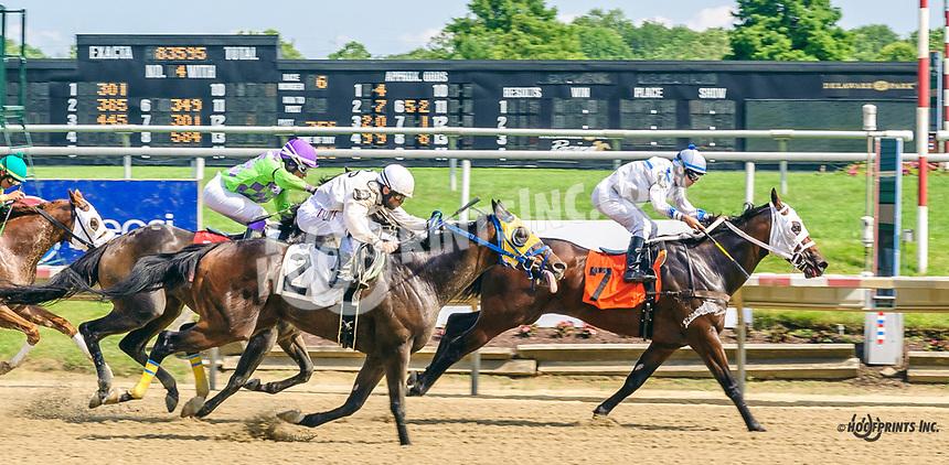 Polished Steel winning at Delaware Park on 7/3/19