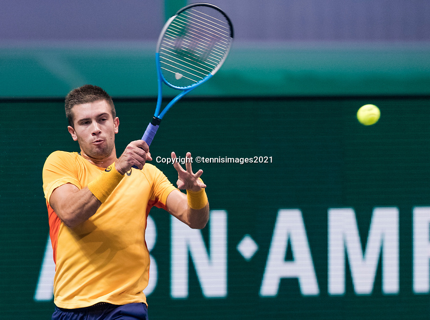 Rotterdam, The Netherlands, 4 march  2021, ABNAMRO World Tennis Tournament, Ahoy, Second round singles: Borna Coric (CRO).<br /> Photo: www.tennisimages.com/