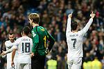 Real Madrid´s Cristiano Ronaldo celebrates a goal during 2015/16 La Liga match between Real Madrid and Espanyol at Santiago Bernabeu stadium in Madrid, Spain. January 31, 2016. (ALTERPHOTOS/Victor Blanco)