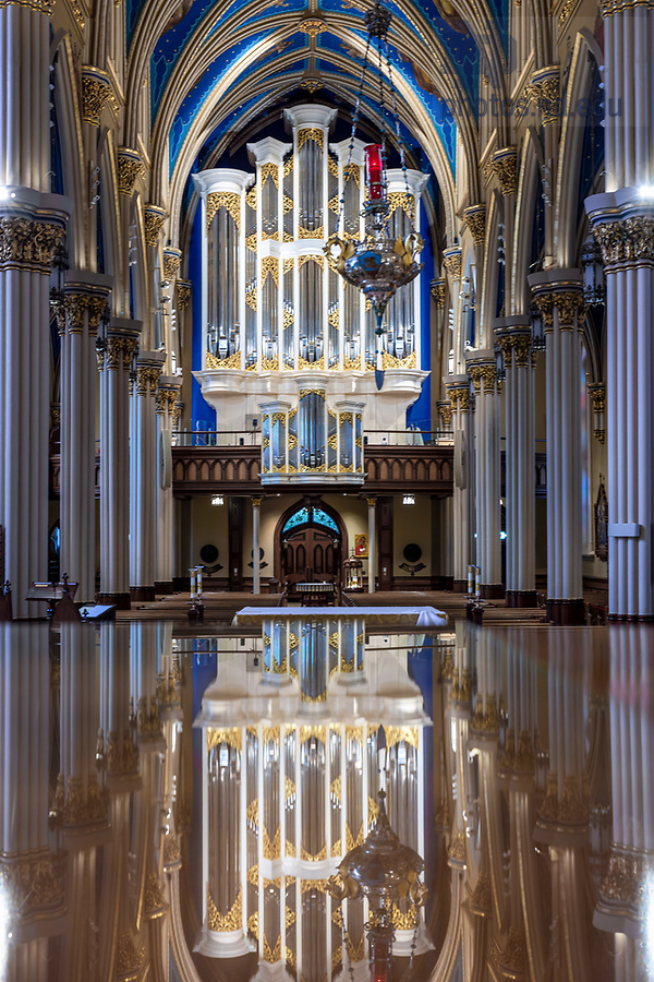 May 27, 2020; Interior of the Basilica of the Sacred Heart (Photo by Matt Cashore/University of Notre Dame)
